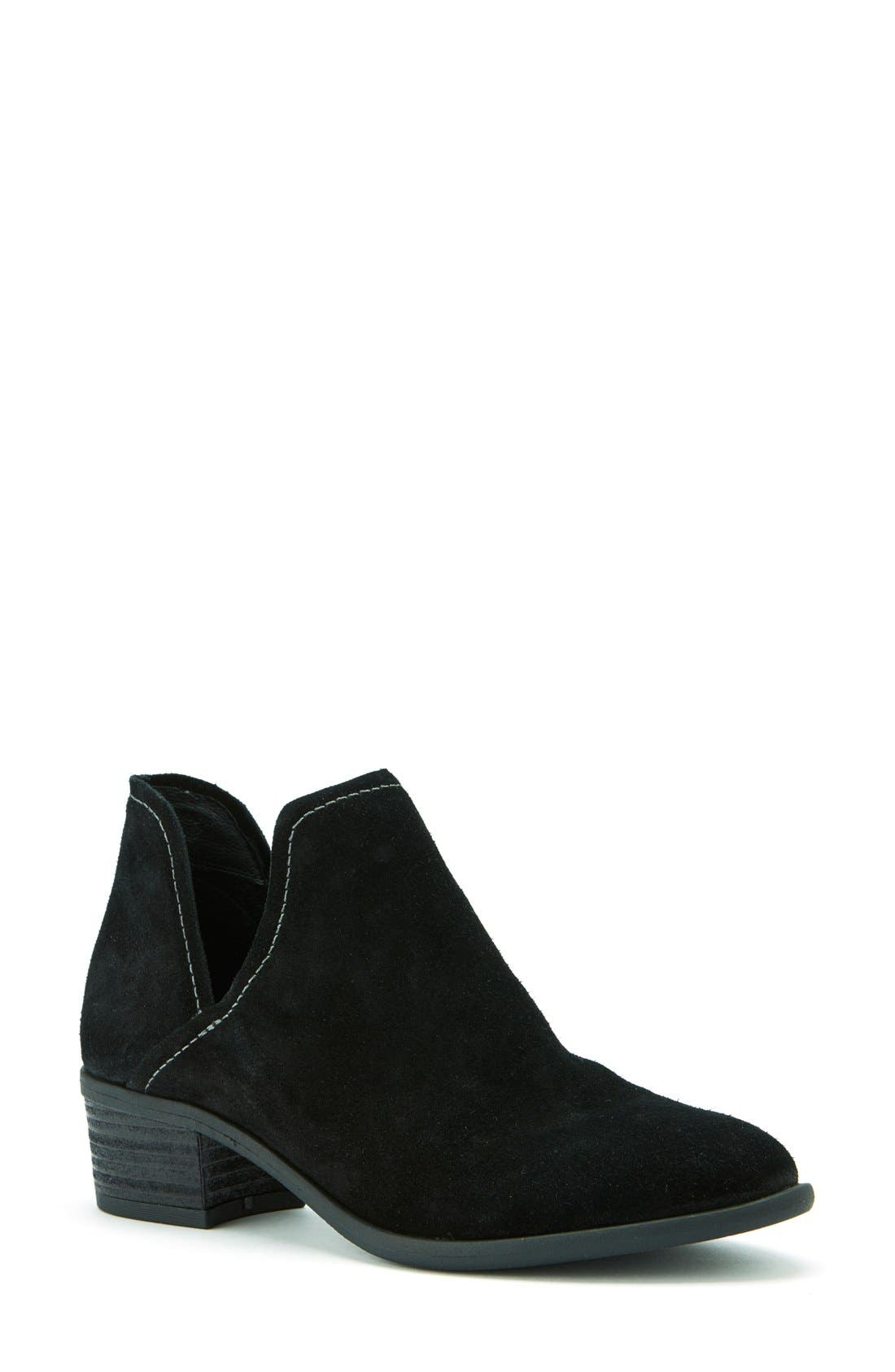 'Marcella' Waterproof  Boot,                             Main thumbnail 1, color,                             Black Suede