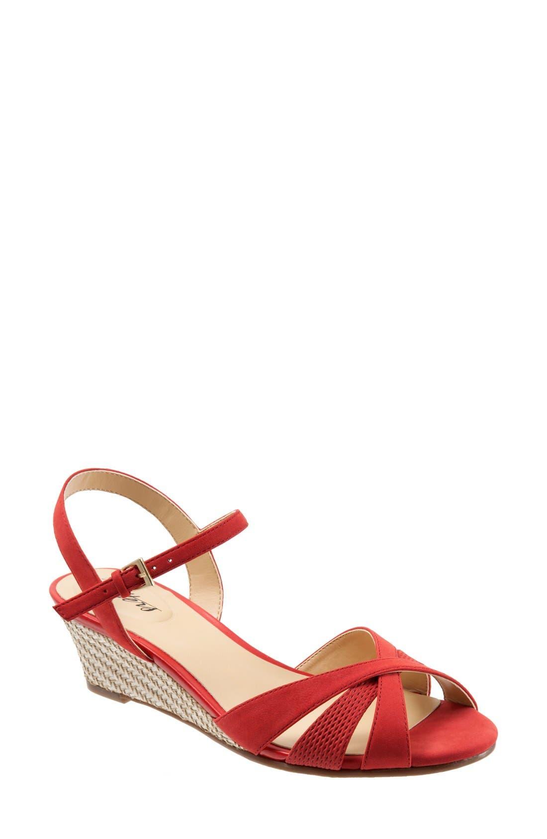 Trotters 'Mickey' Wedge Sandal (Women)