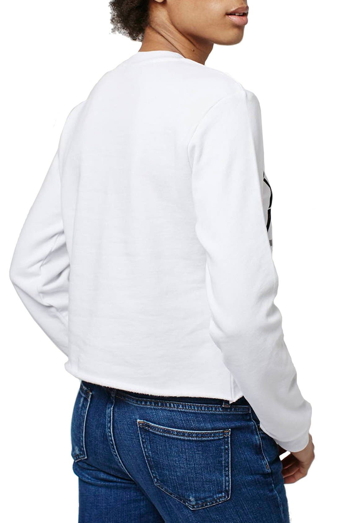 Alternate Image 3  - Topshop 'Brklyn' Graphic Sweatshirt