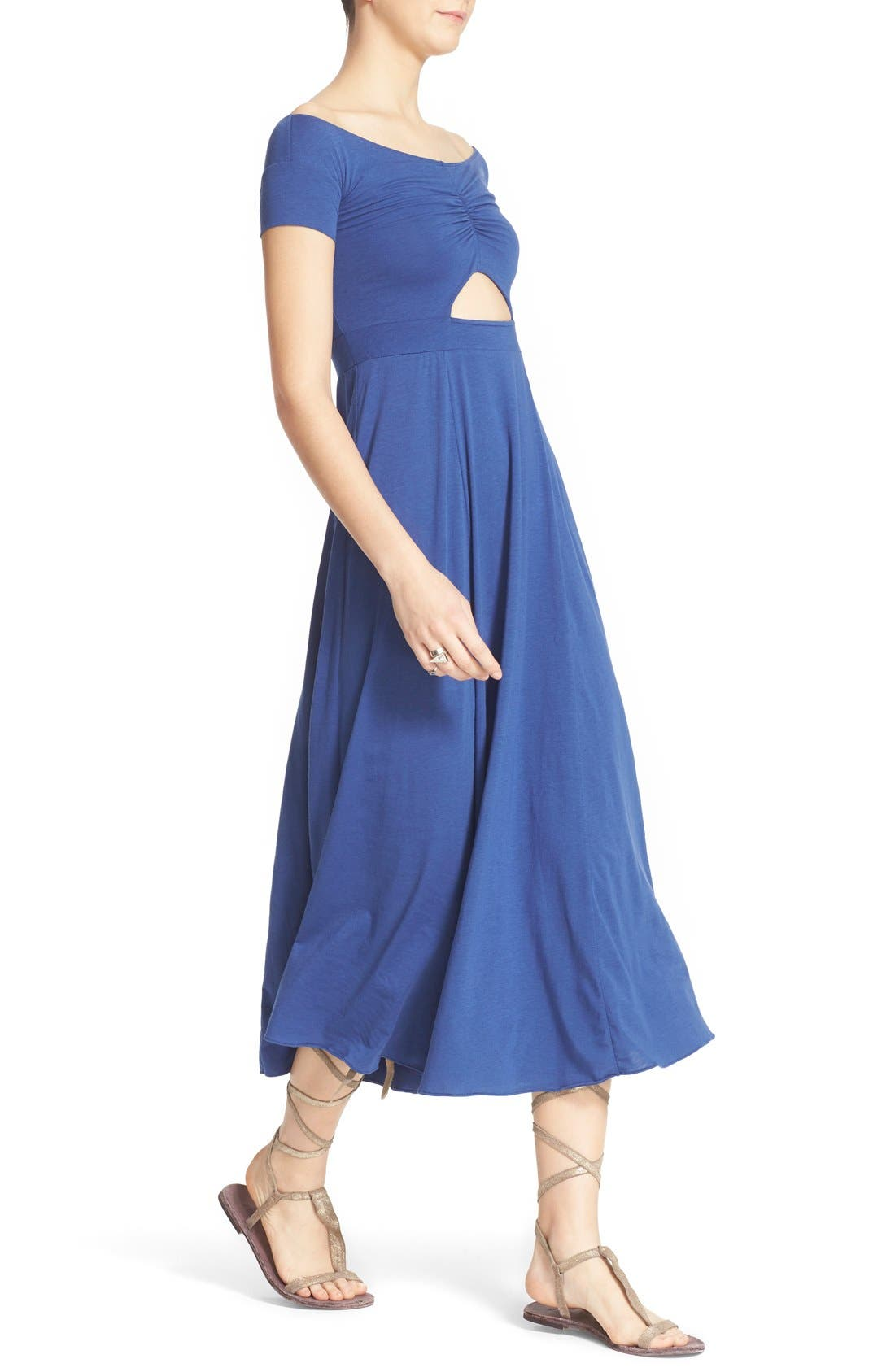 Alternate Image 4  - Free People 'Dance with Me' Off the Shoulder Fit & Flare Dress