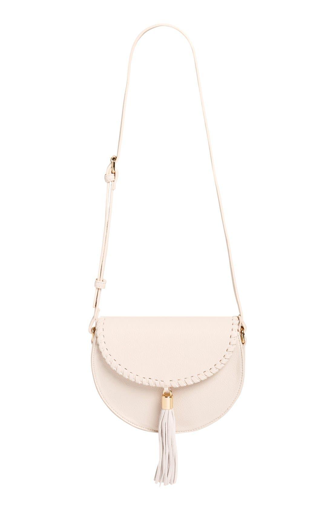 Main Image - Street Level Tassel Flap Crossbody Bag