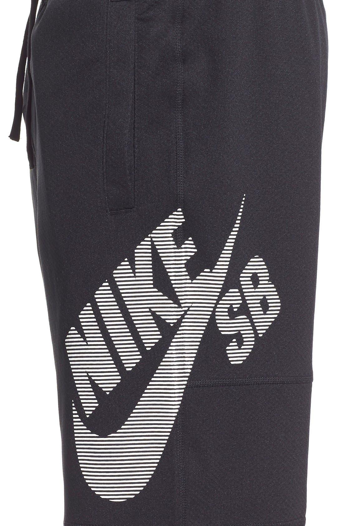 SB 'Stripe Sunday' Dri-FIT Shorts,                             Alternate thumbnail 4, color,                             Black/White
