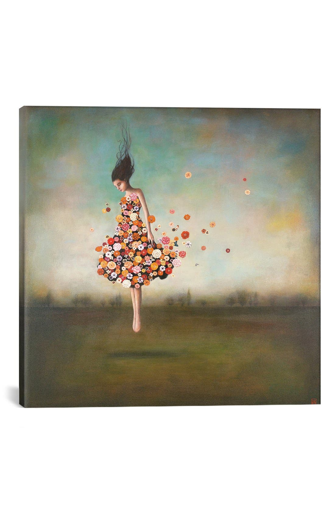 'Boundlessness In Bloom' Giclée Print Canvas Art,                         Main,                         color, Green