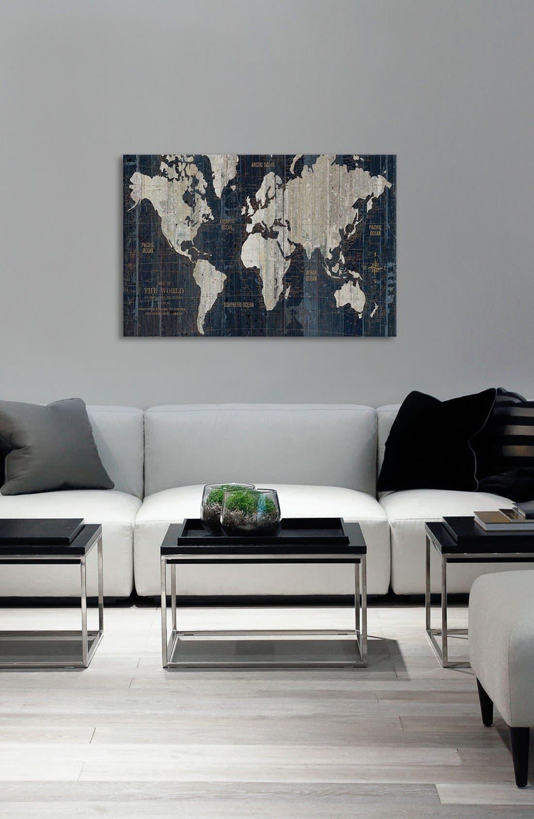 Alternate Image 2  - iCanvas 'Old World Map' Giclée Print Canvas Art