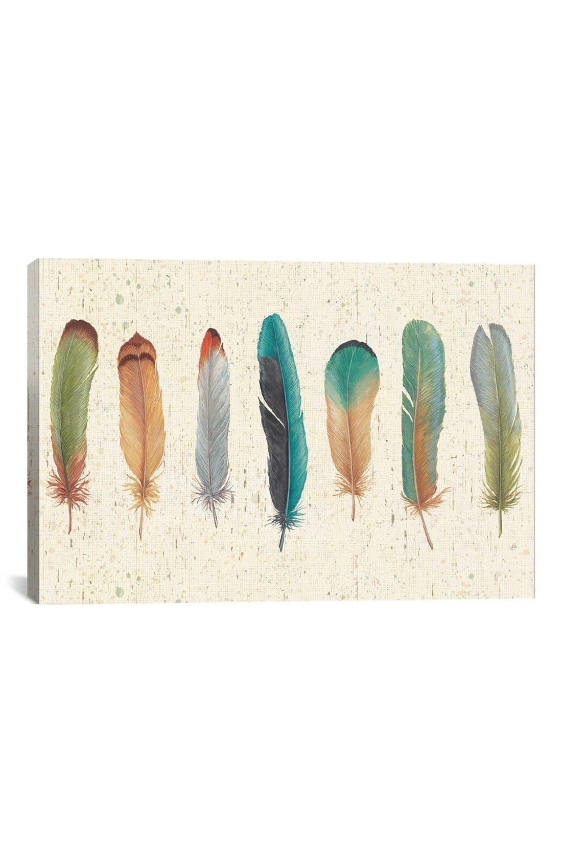 Main Image - iCanvas 'Feather Tales VII' Giclée Print Canvas Art