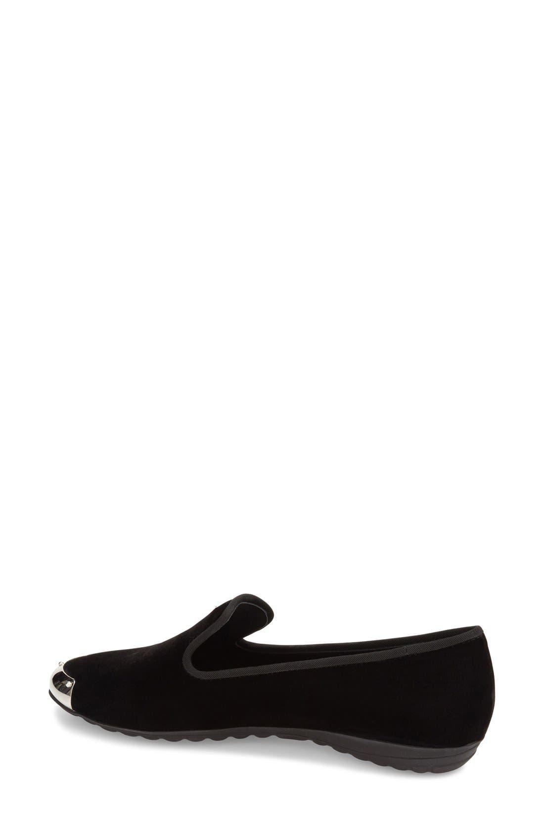 Alternate Image 2  - Giuseppe Zanotti 'Dalila' Metallic Toe Velour Loafer (Women) (Nordstrom Exclusive)
