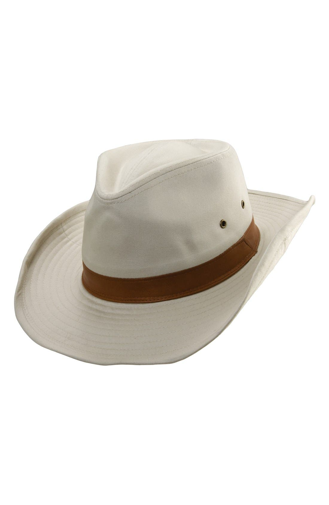 Cotton Outback Hat,                             Main thumbnail 1, color,                             Putty