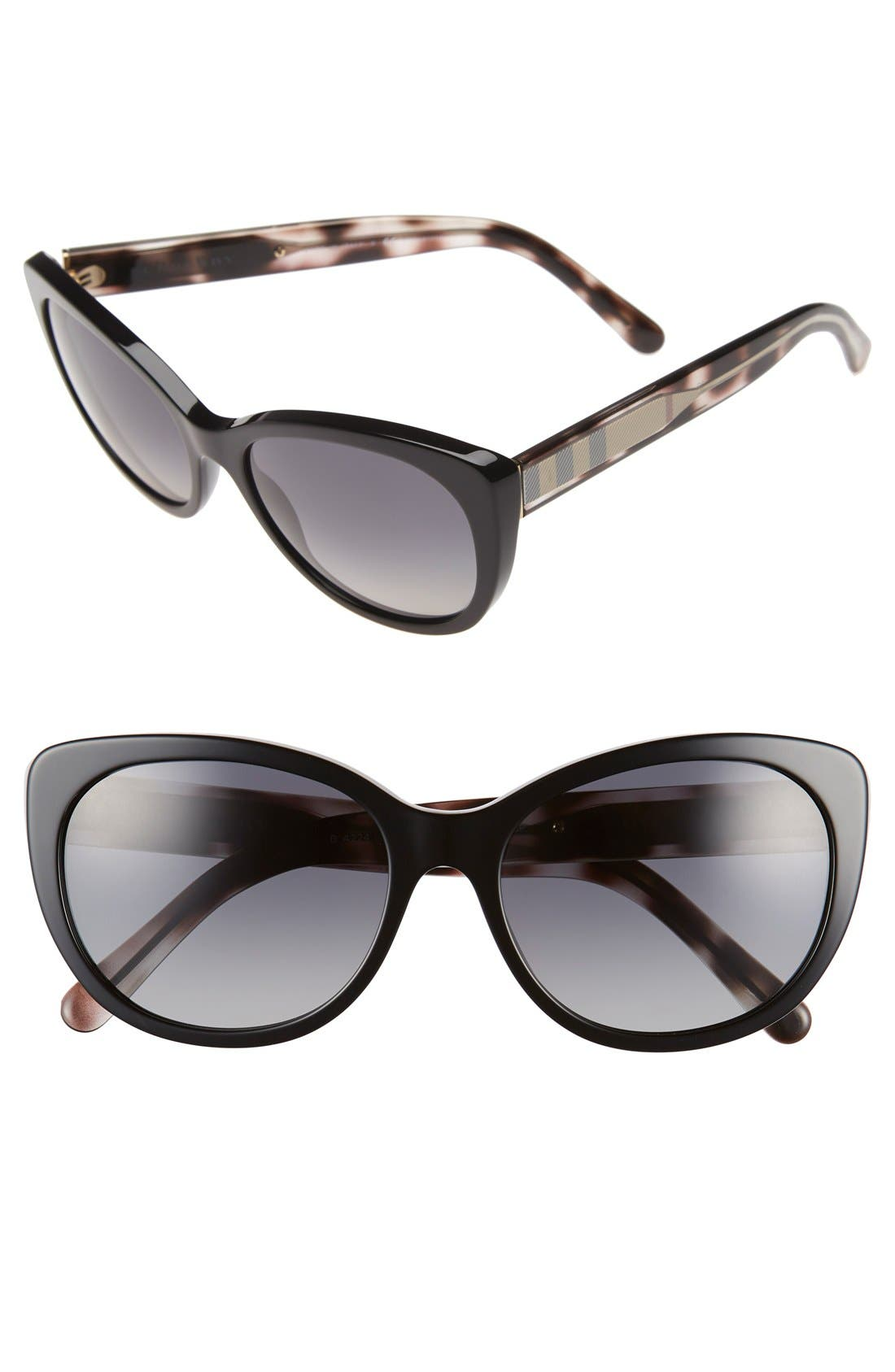 Main Image - Burberry 56mm Cat Eye Sunglasses