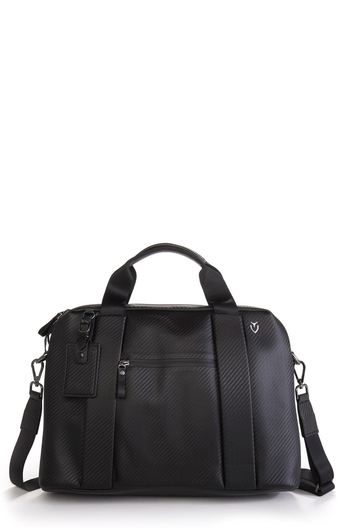 'Signature' Briefcase,                             Main thumbnail 1, color,                             Carbon Black