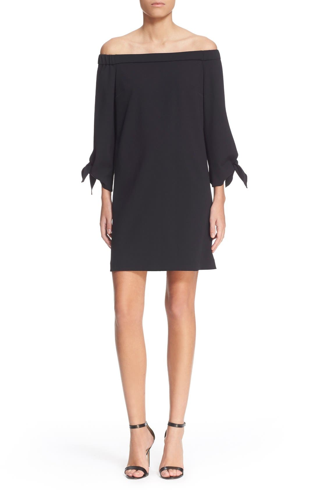 Tibi Off the Shoulder Flutter Sleeve Dress