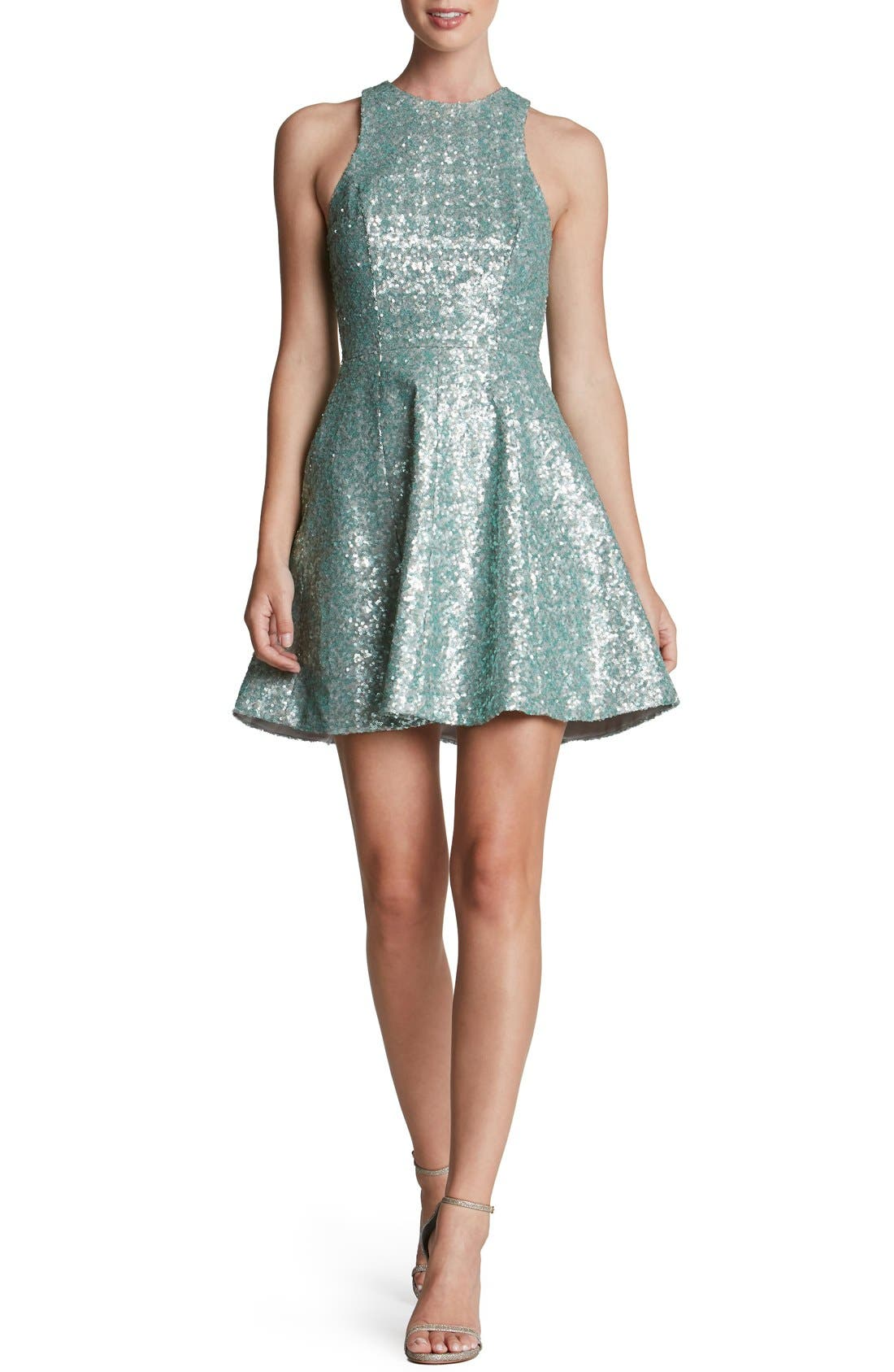 Main Image - Dress the Population 'Ginger' Sequin Fit & Flare Dress