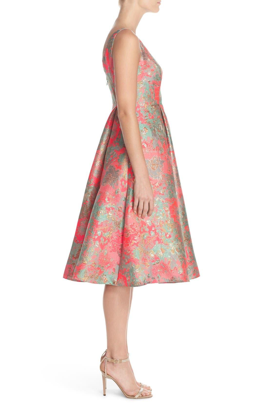 Alternate Image 3  - Adrianna Papell Metallic Jacquard Fit & Flare Dress