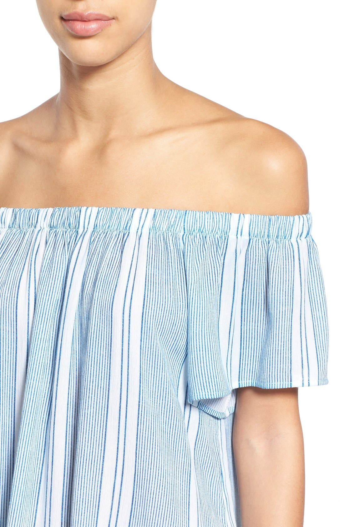 Alternate Image 4  - Bobeau Off the Shoulder Top
