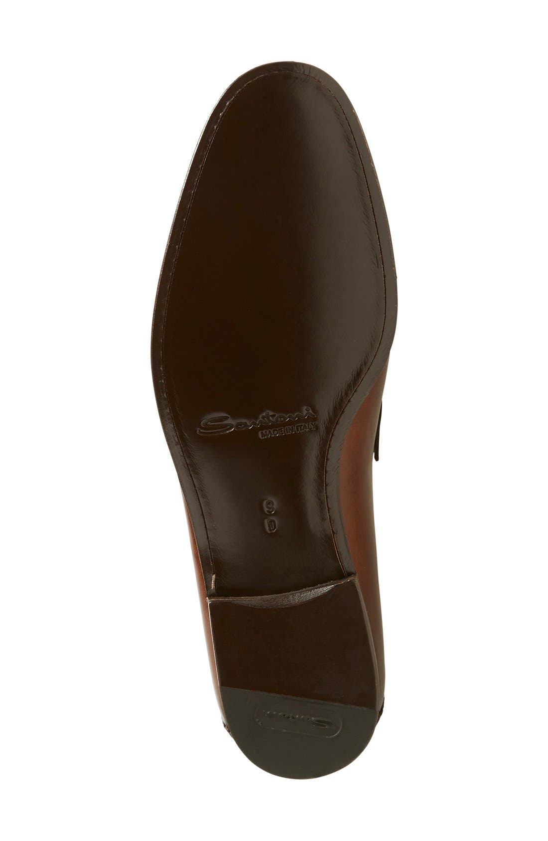 'Egan' Bit Loafer,                             Alternate thumbnail 4, color,                             Brown Leather