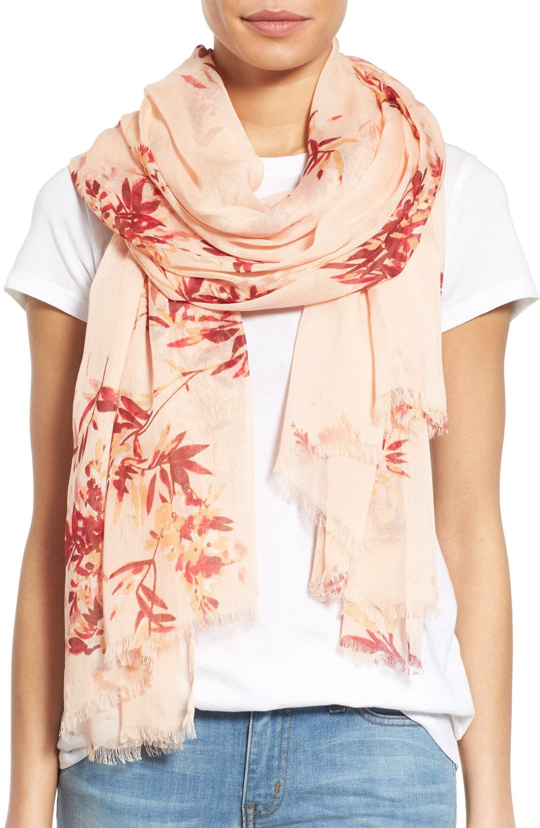 Main Image - Nordstrom 'Blurred Blossoms' Scarf
