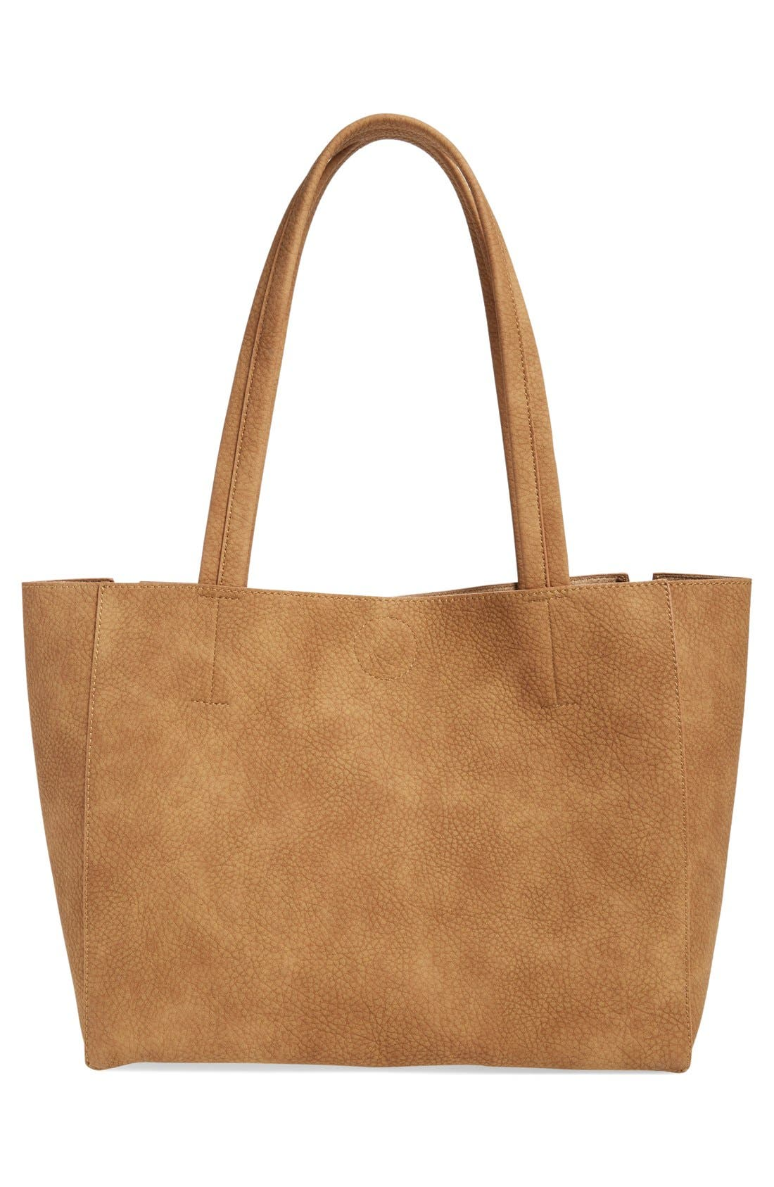Alternate Image 3  - BP. Zip Detail Faux Leather Tote