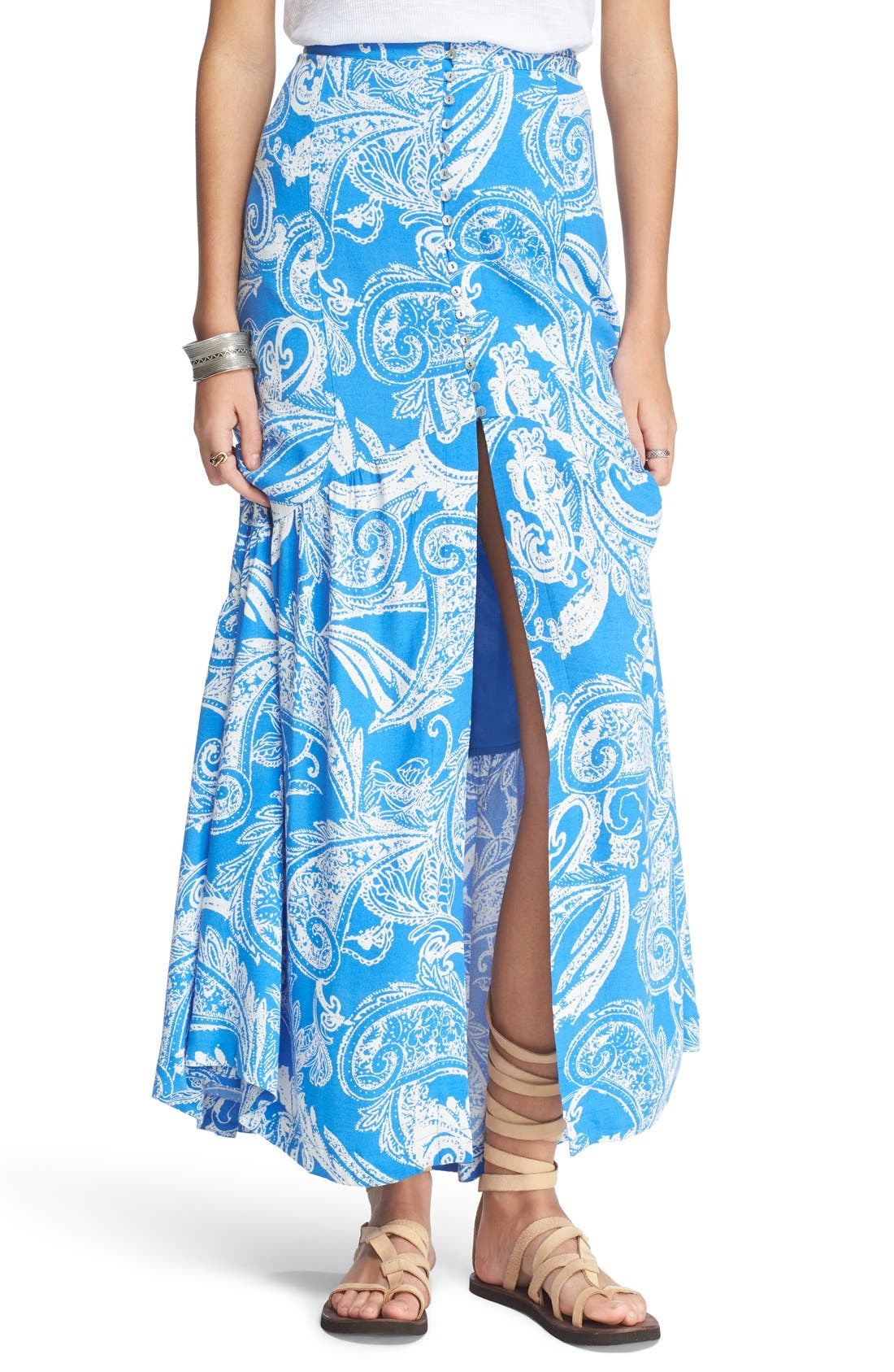 Alternate Image 1 Selected - Free People 'Smooth Sailing' Maxi Skirt