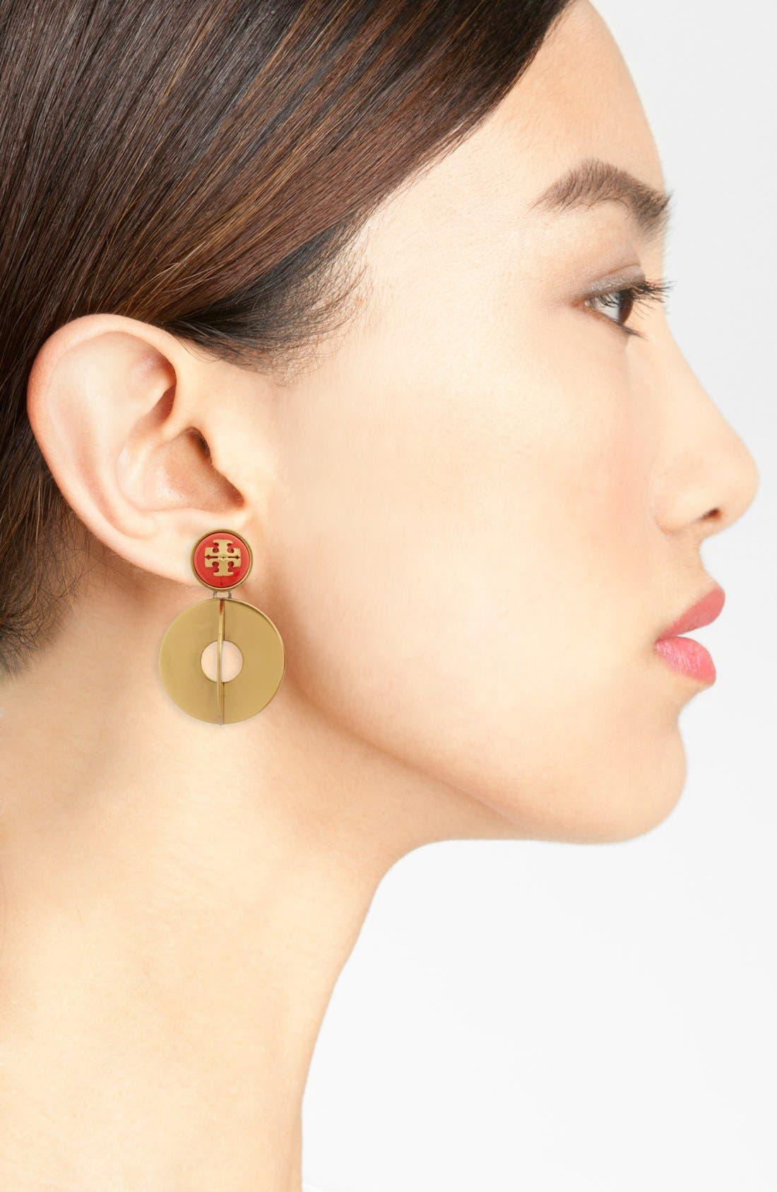 Alternate Image 2  - Tory Burch 'Confetti' Logo Drop Earrings