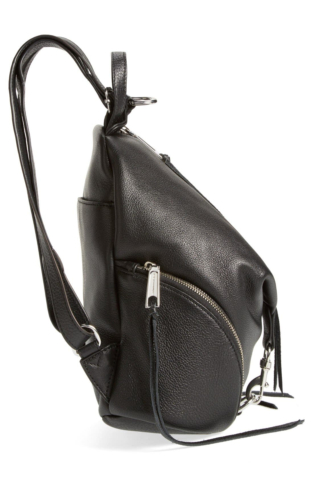 Medium Julian Backpack,                             Alternate thumbnail 5, color,                             Black/ Silver Hrdwr