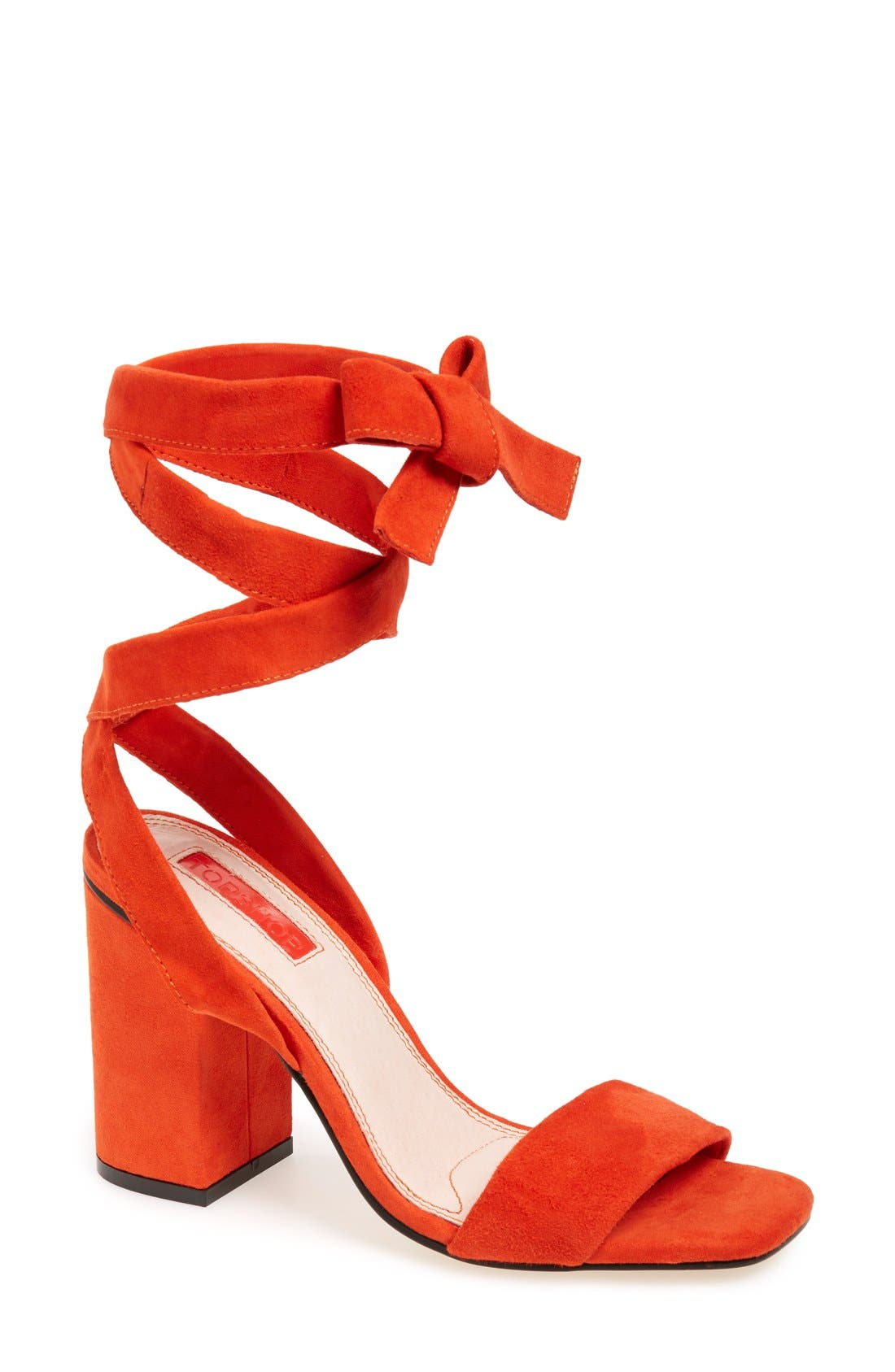 Alternate Image 1 Selected - Topshop 'Rapping' Ankle Strap Sandal (Women)