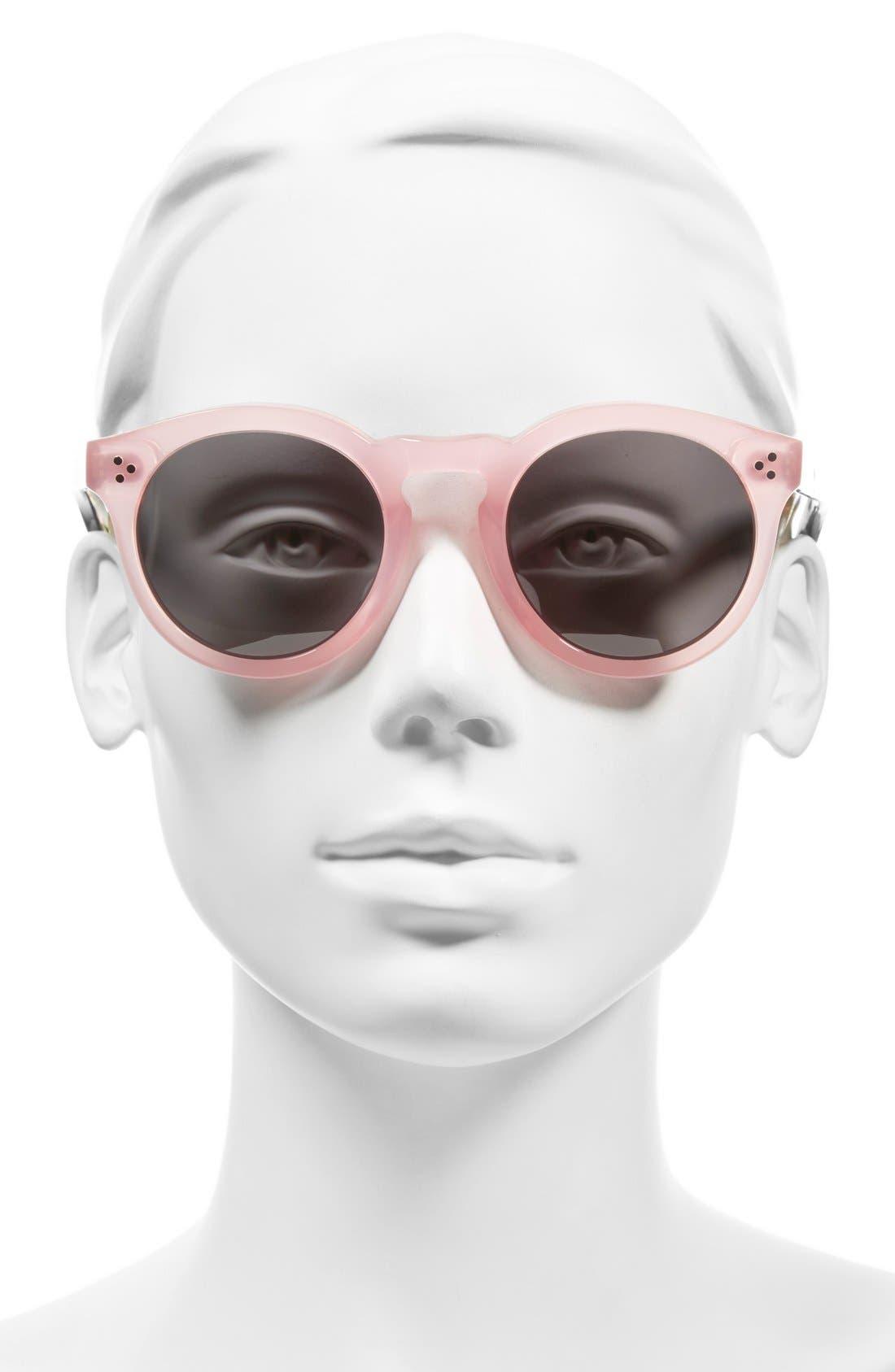 Alternate Image 2  - Illesteva 'Leonard II' 50mm Round Mirrored Sunglasses