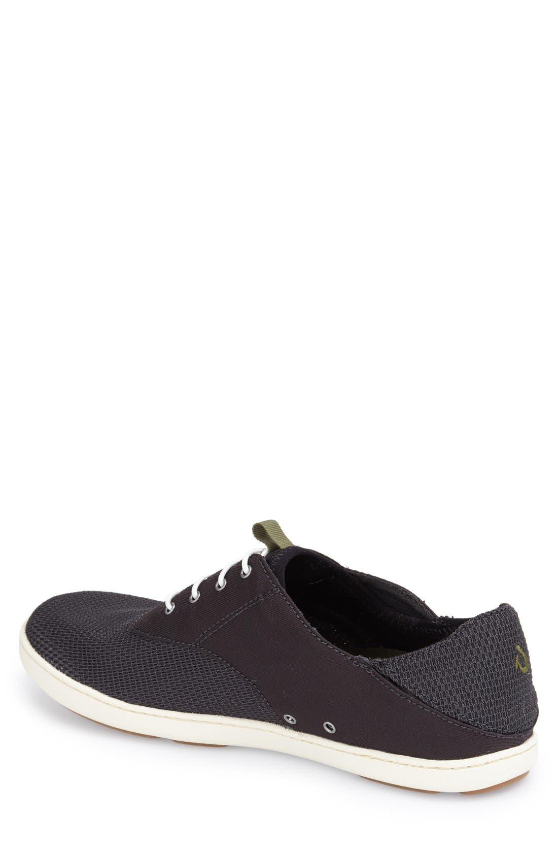 'Nohea Moku' Sneaker,                             Alternate thumbnail 2, color,                             Black/ Black