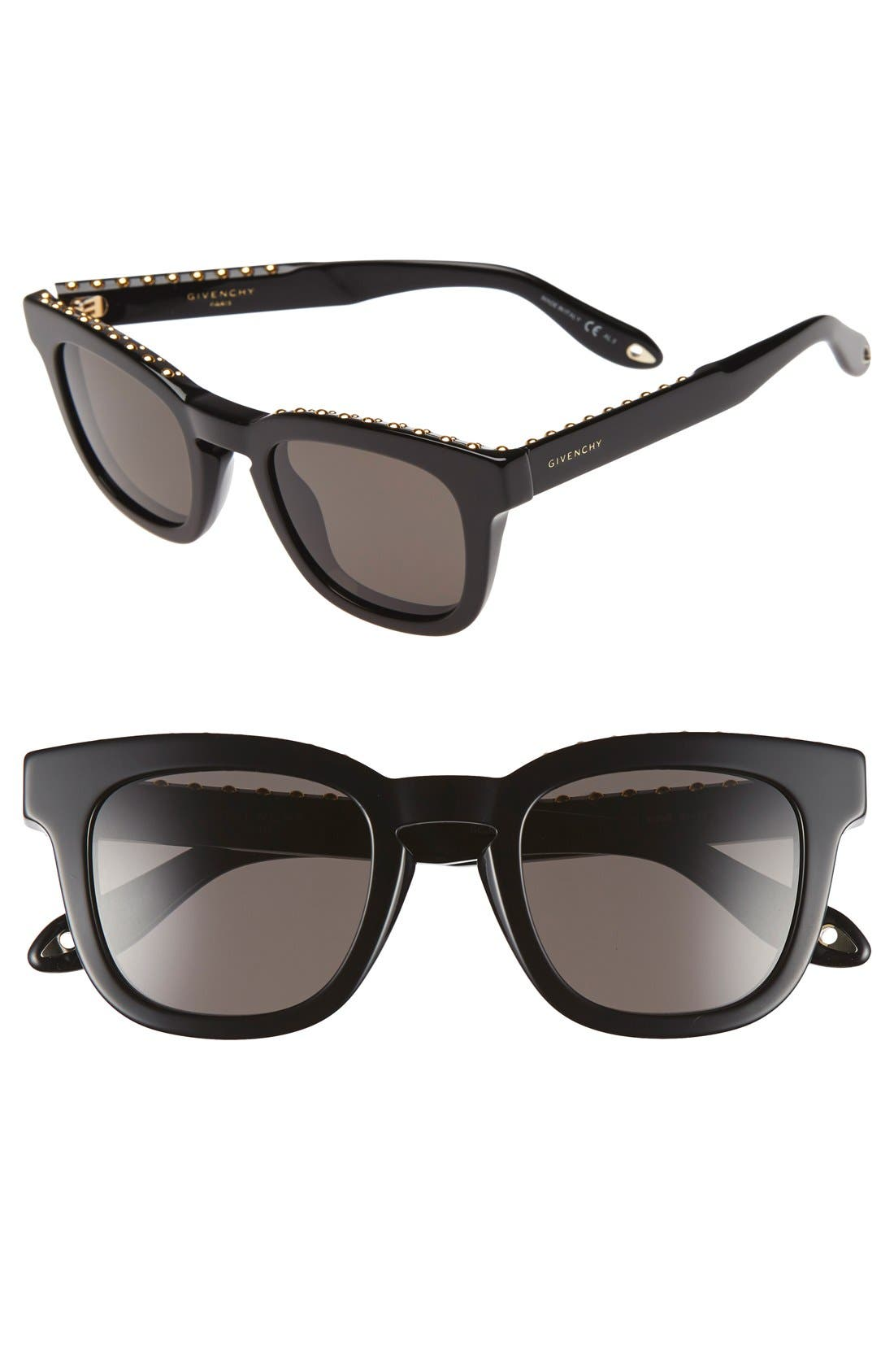 '7006/S' 48mm Sunglasses,                         Main,                         color, Black/Brown Gray