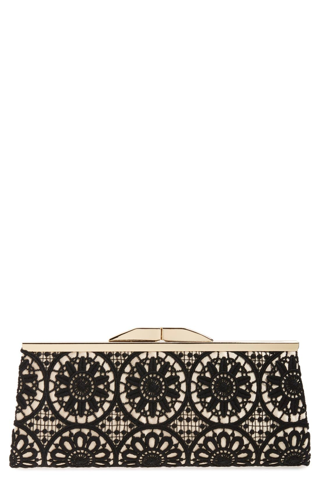 Alternate Image 1 Selected - Jessica McClintock 'Sloan' Floral Lace Clutch