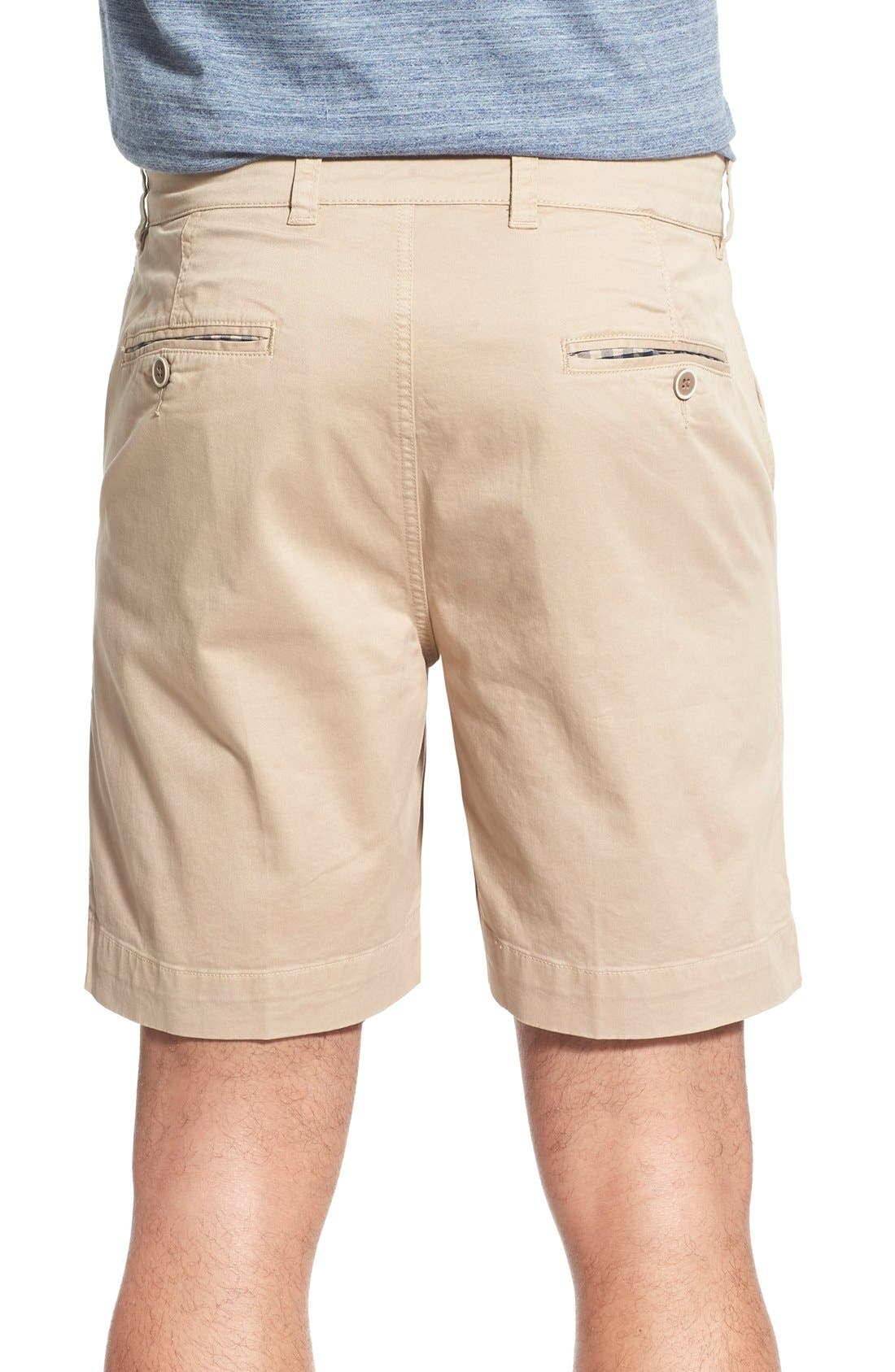 'Sunny' Stretch Twill Chino Shorts,                             Alternate thumbnail 3, color,                             Khaki