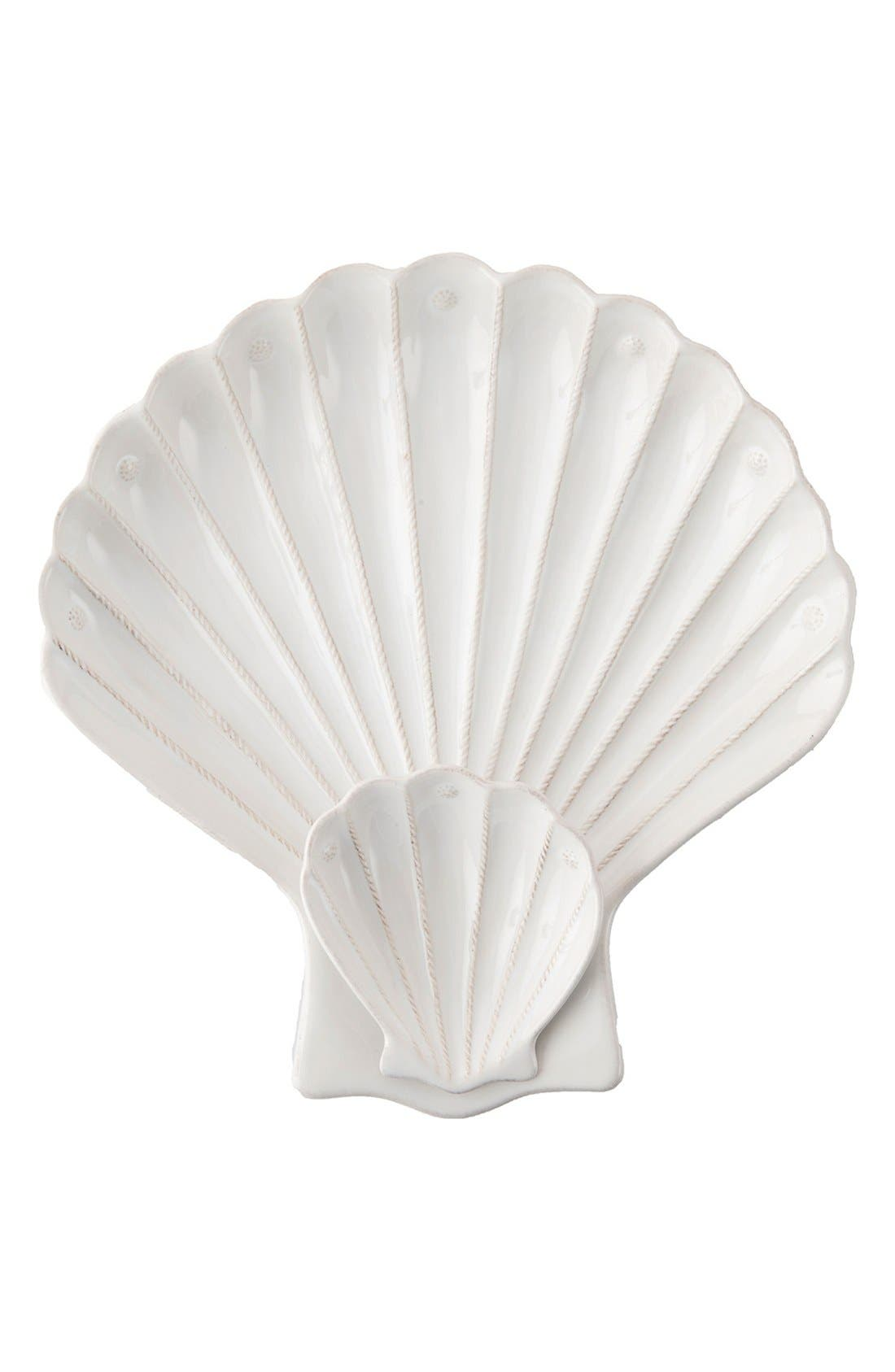 'Berry and Thread' Shell Appetizer Serving Plate,                         Main,                         color, White