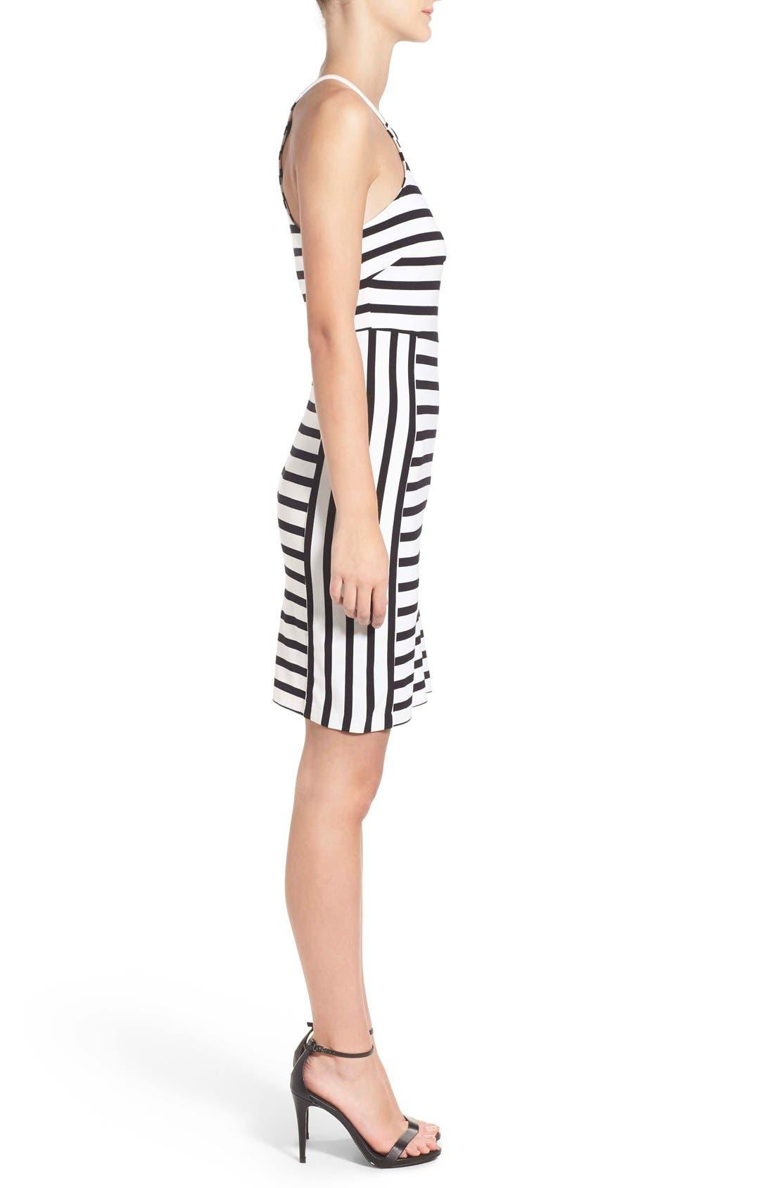 Alternate Image 2  - cupcakes and cashmere 'Elliot' Stripe Body-Con Dress