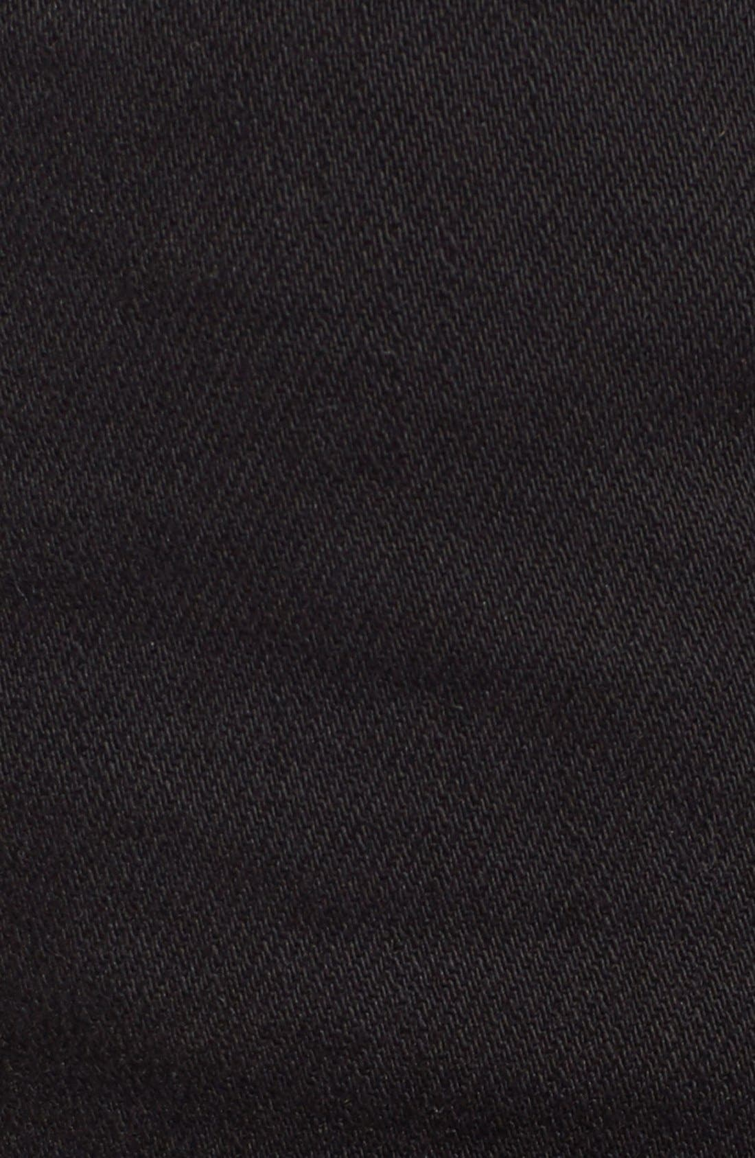 Joey Flap Pocket Cutoff Denim Shorts,                             Alternate thumbnail 5, color,                             Jet Black