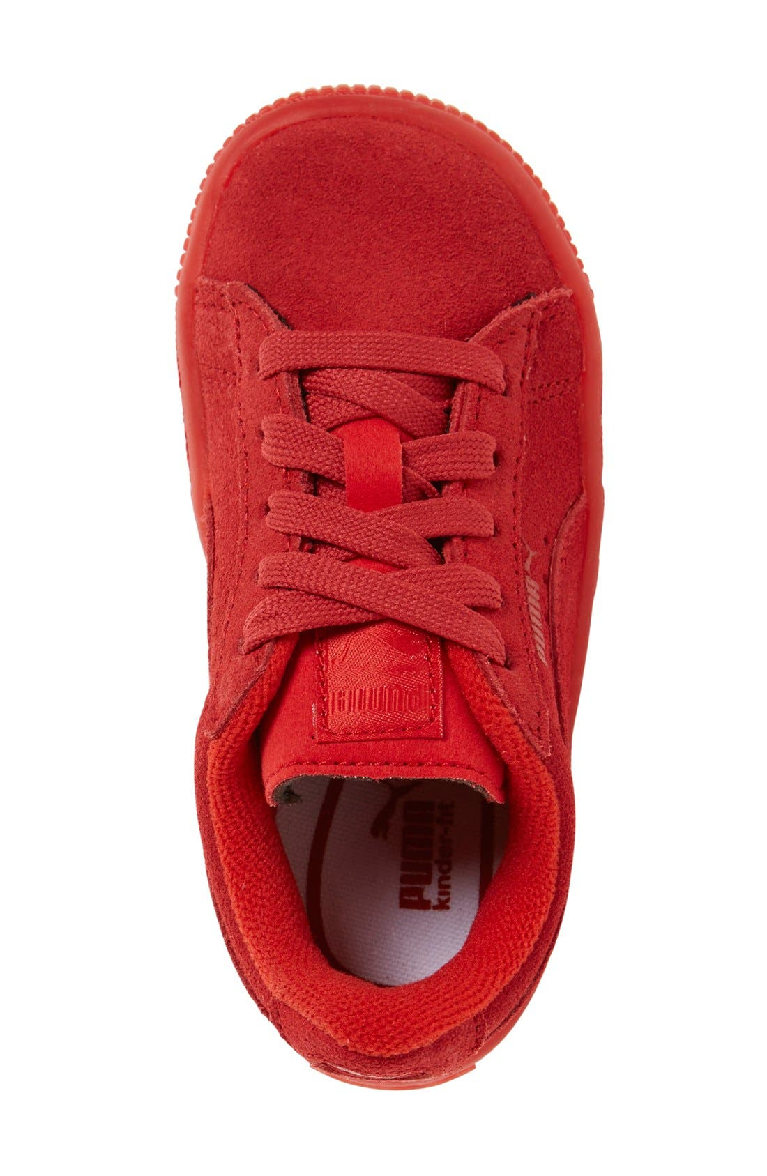 'Suede Iced' Sneaker,                             Alternate thumbnail 3, color,                             Red