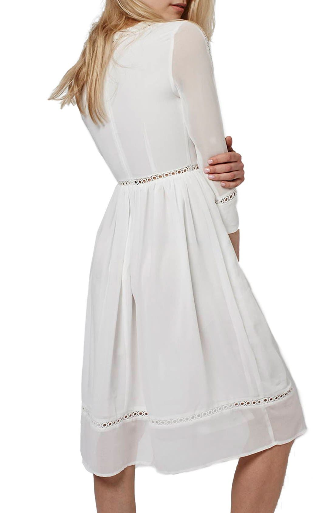 Alternate Image 3  - Topshop 'Puritan' Cutwork Midi Dress
