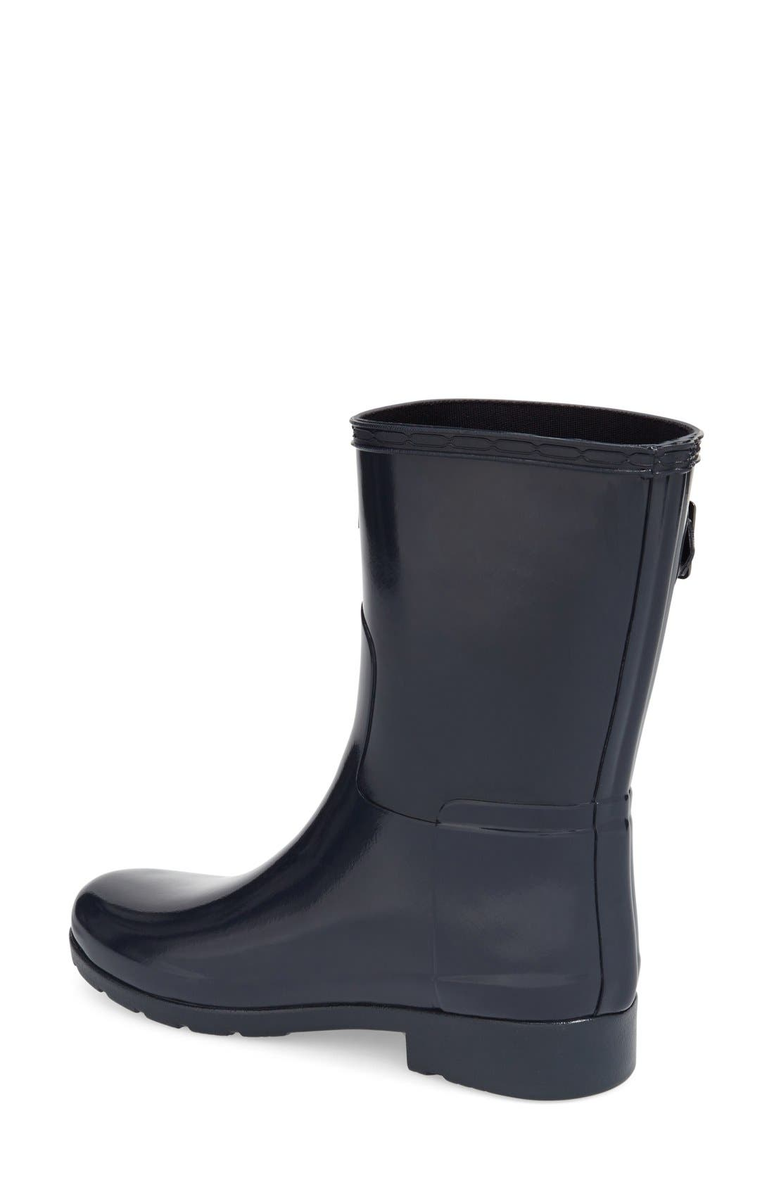 Alternate Image 2  - Hunter 'Refined Short' Gloss Rain Boot (Women)