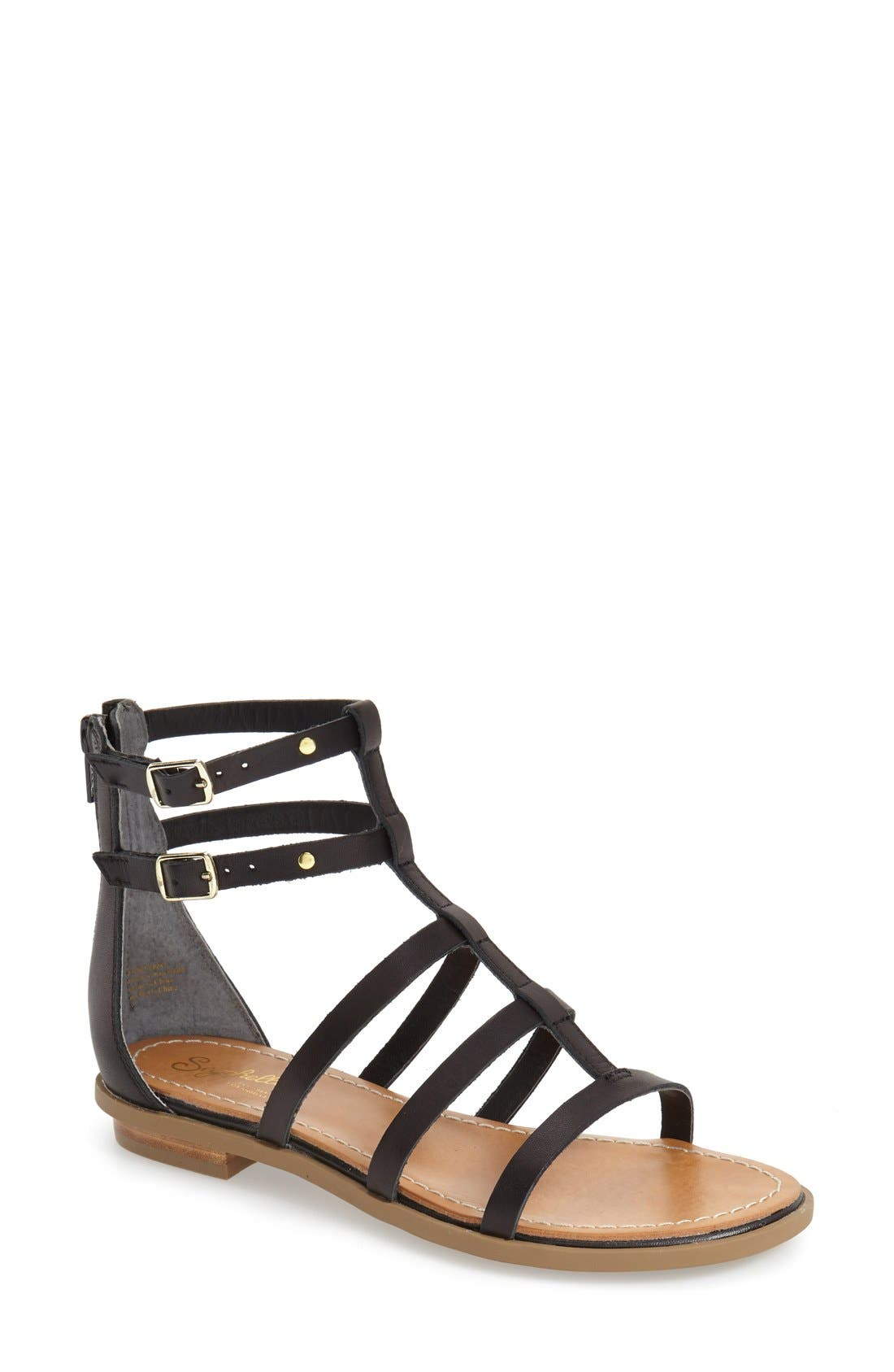 Alternate Image 1 Selected - Seychelles 'Peachy' Gladiator Flat Sandal (Women)
