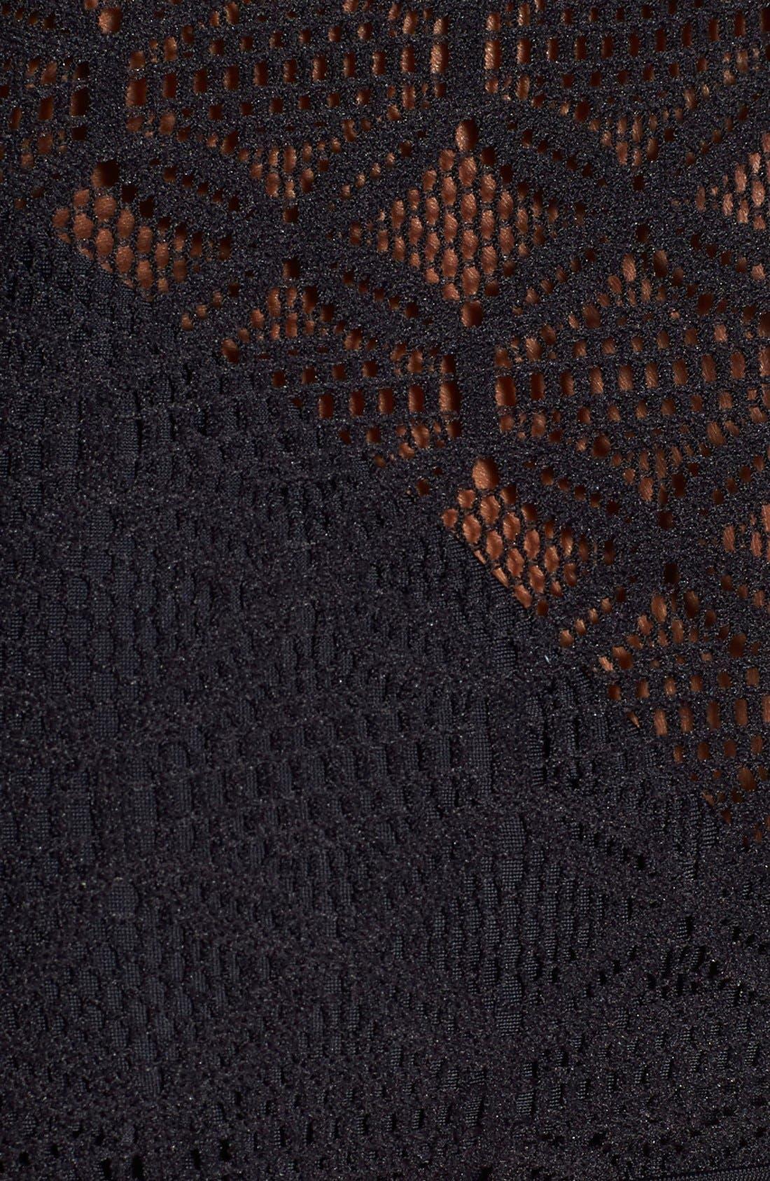 Alternate Image 6  - Gossip Girl 'Medallion Crochet' High Neck Halter Bikini Top