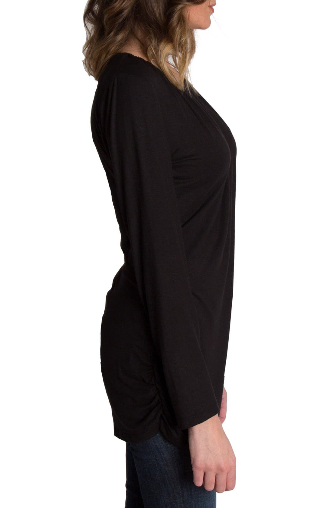 Alternate Image 3  - Udderly Hot Mama 'Luxe' Long Sleeve Nursing Tee
