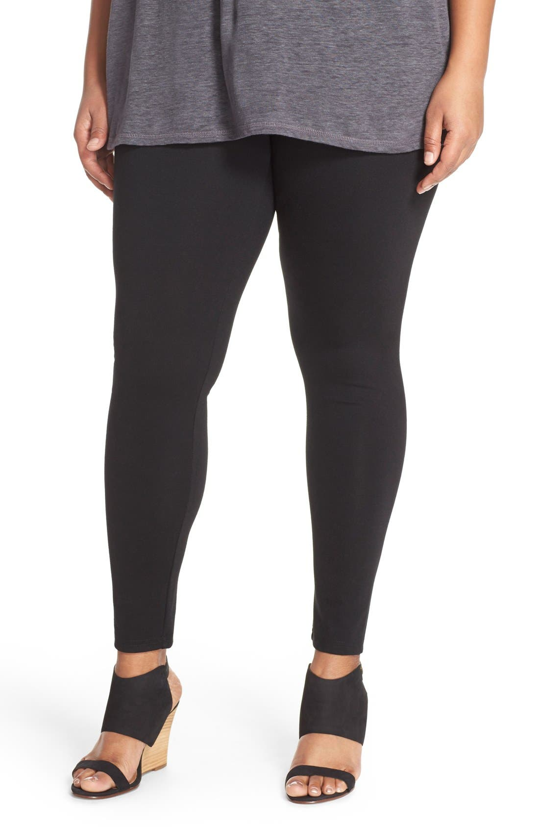 Alternate Image 1 Selected - Sejour Ponte Leggings (Plus Size)