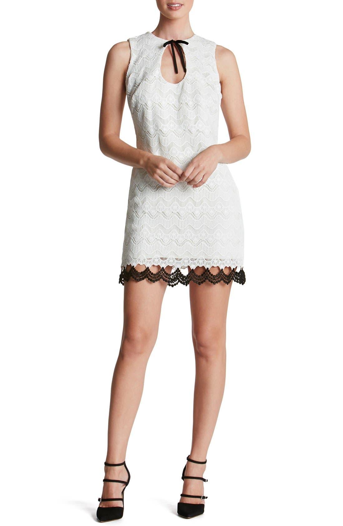 Alternate Image 1 Selected - Dress the Population 'Mara' Crochet Sheath Dress