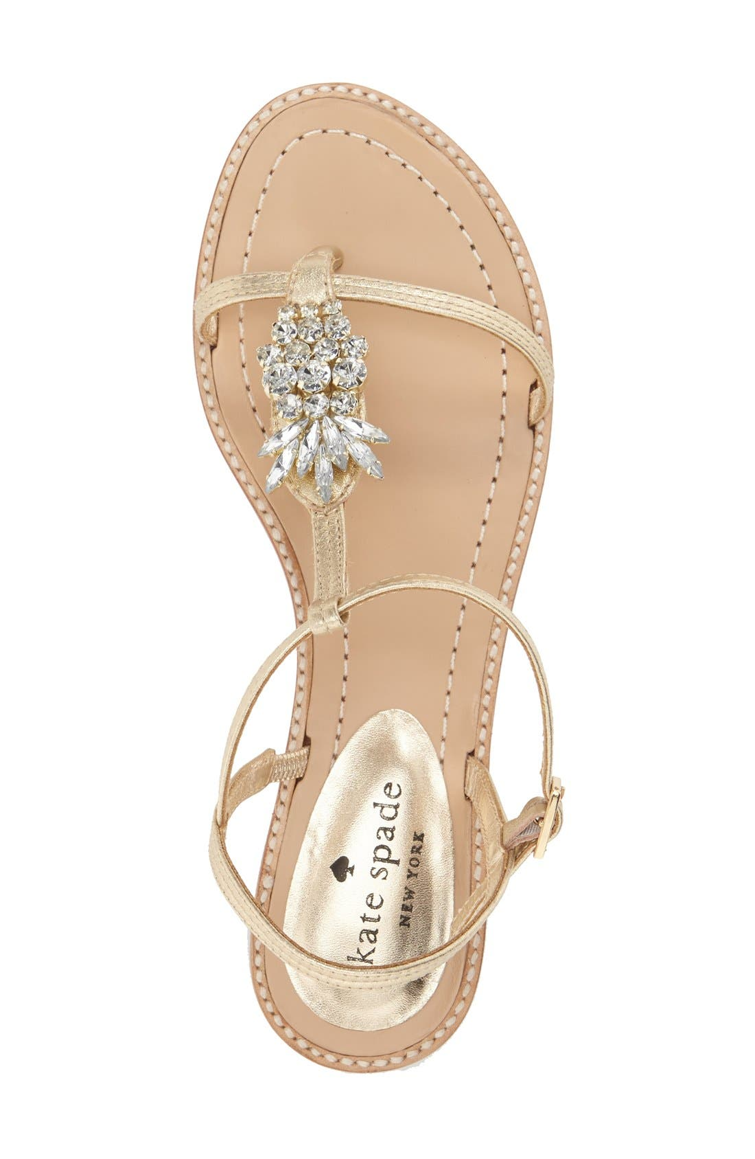 Alternate Image 3  - kate spade new york 'serafina' crystal pineapple flat sandal (Women)