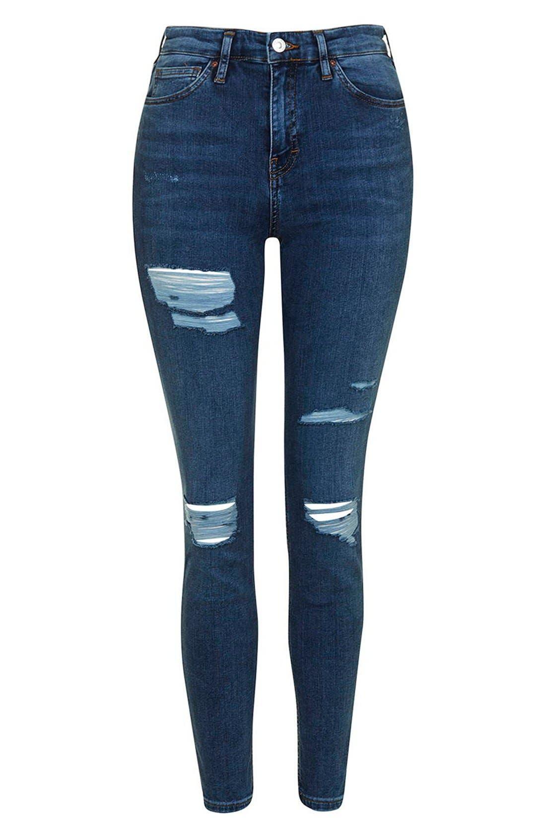 Alternate Image 4  - Topshop Moto 'Jamie' Super Ripped Skinny Jeans