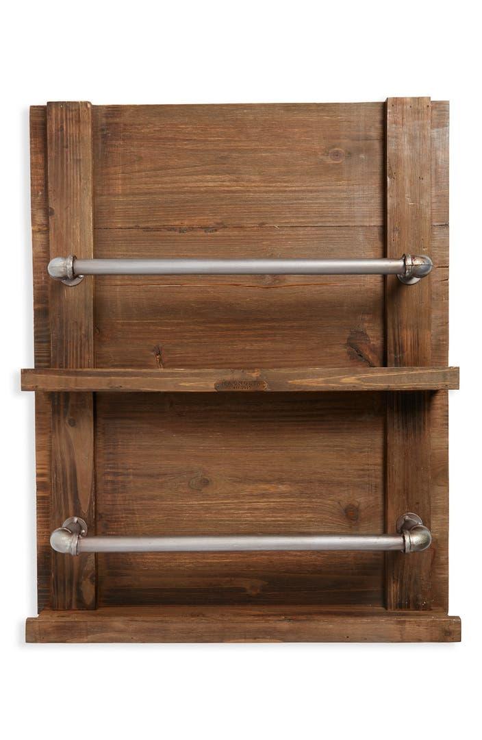Magnolia home wood mounted towel rack nordstrom for Wooden towel racks for bathrooms