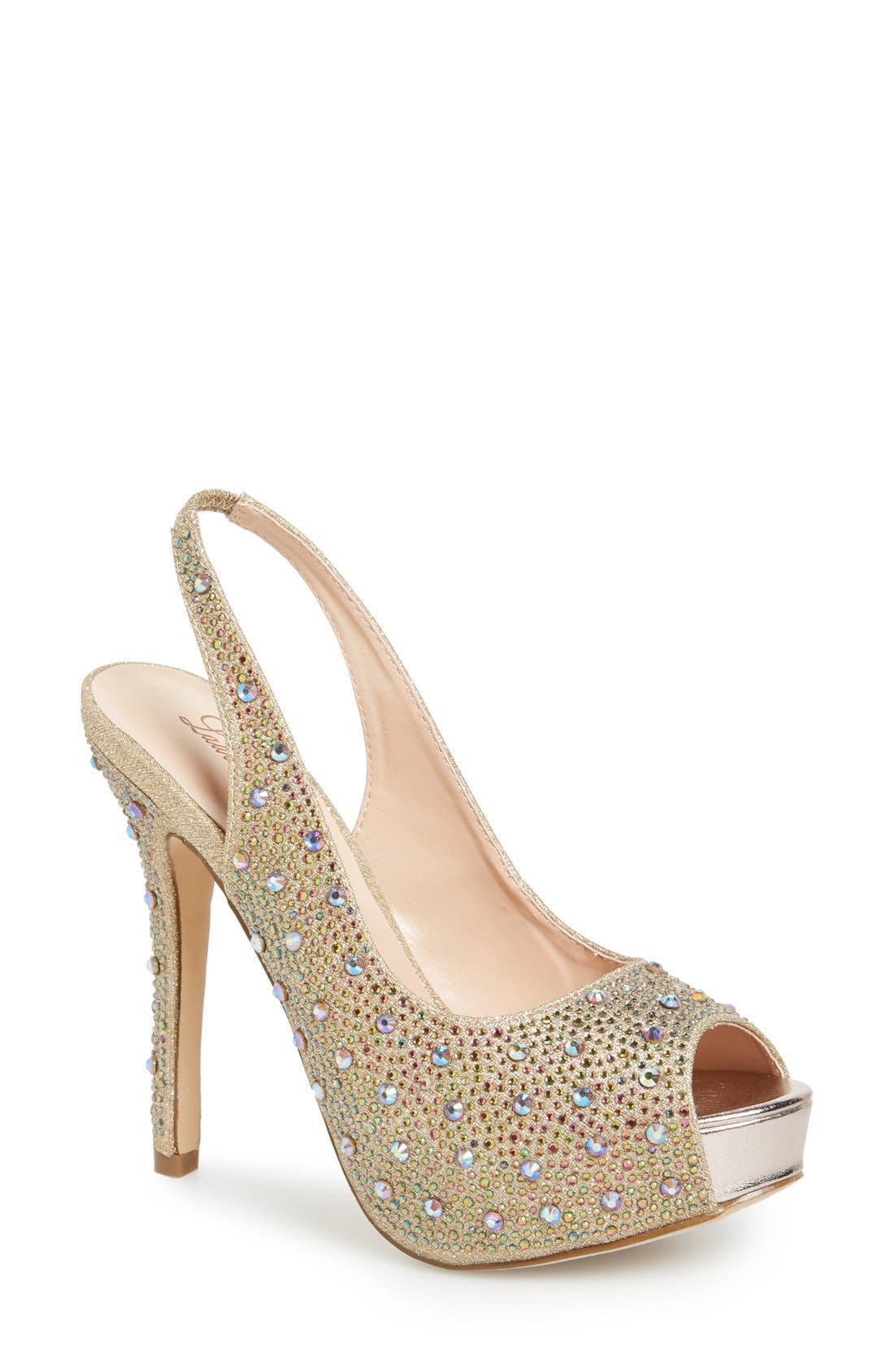 Alternate Image 1 Selected - Lauren Lorraine 'Candy' Crystal Slingback Pump (Women)