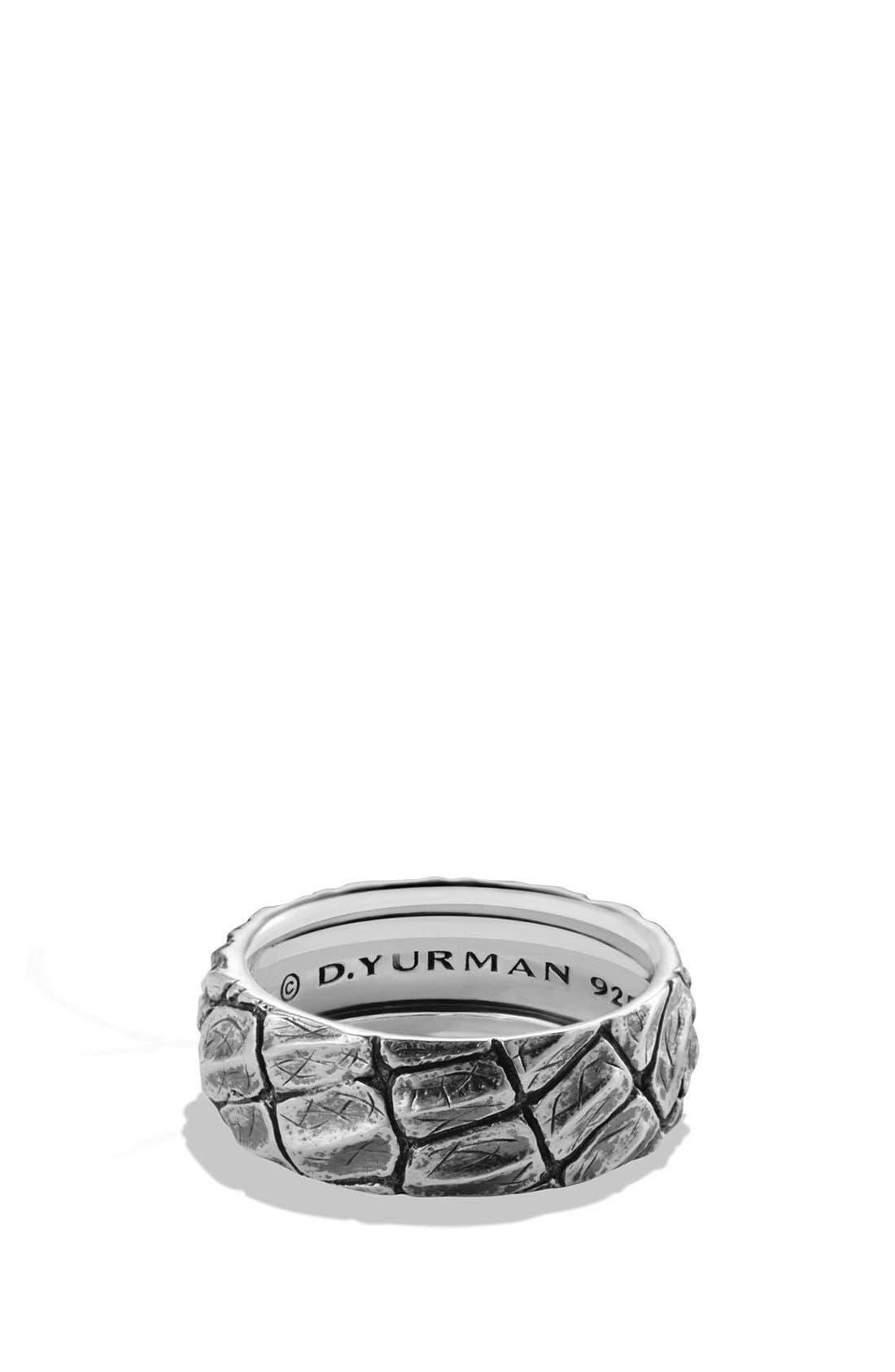 'Naturals' Gator Band Ring,                         Main,                         color, Silver