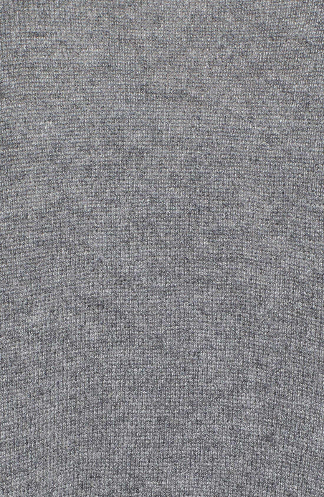 Wool & Cashmere Drape Front Sweater Vest,                             Alternate thumbnail 5, color,                             Heather Dark Grey
