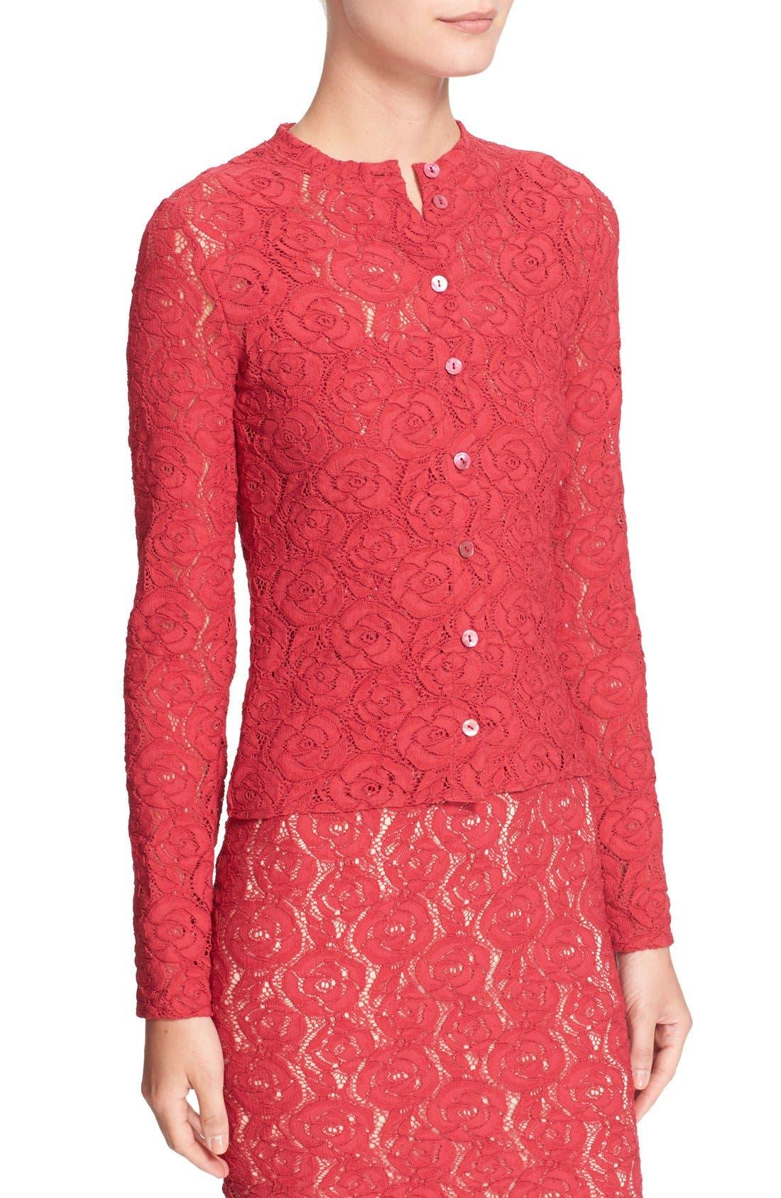 Alternate Image 5  - Fuzzi Floral Lace Cardigan