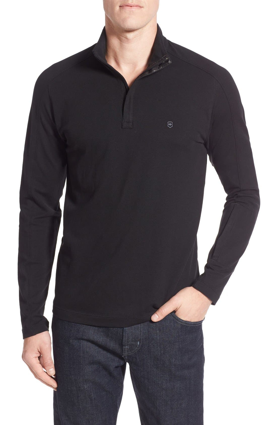 VICTORINOX SWISS ARMY<SUP>®</SUP> Uhrmacher Long Sleeve Quarter Zip Pullover