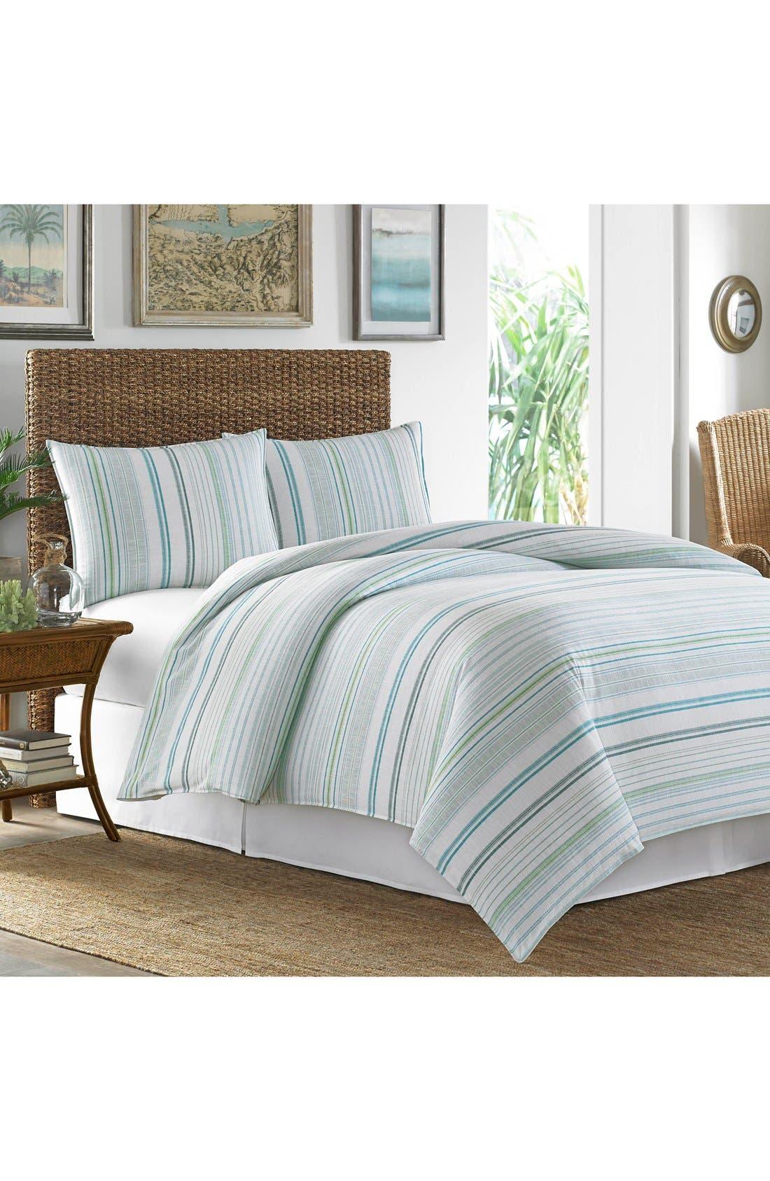 La Scala Breezer Comforter, Sham & Bed Skirt Set,                             Main thumbnail 1, color,                             Seaglass