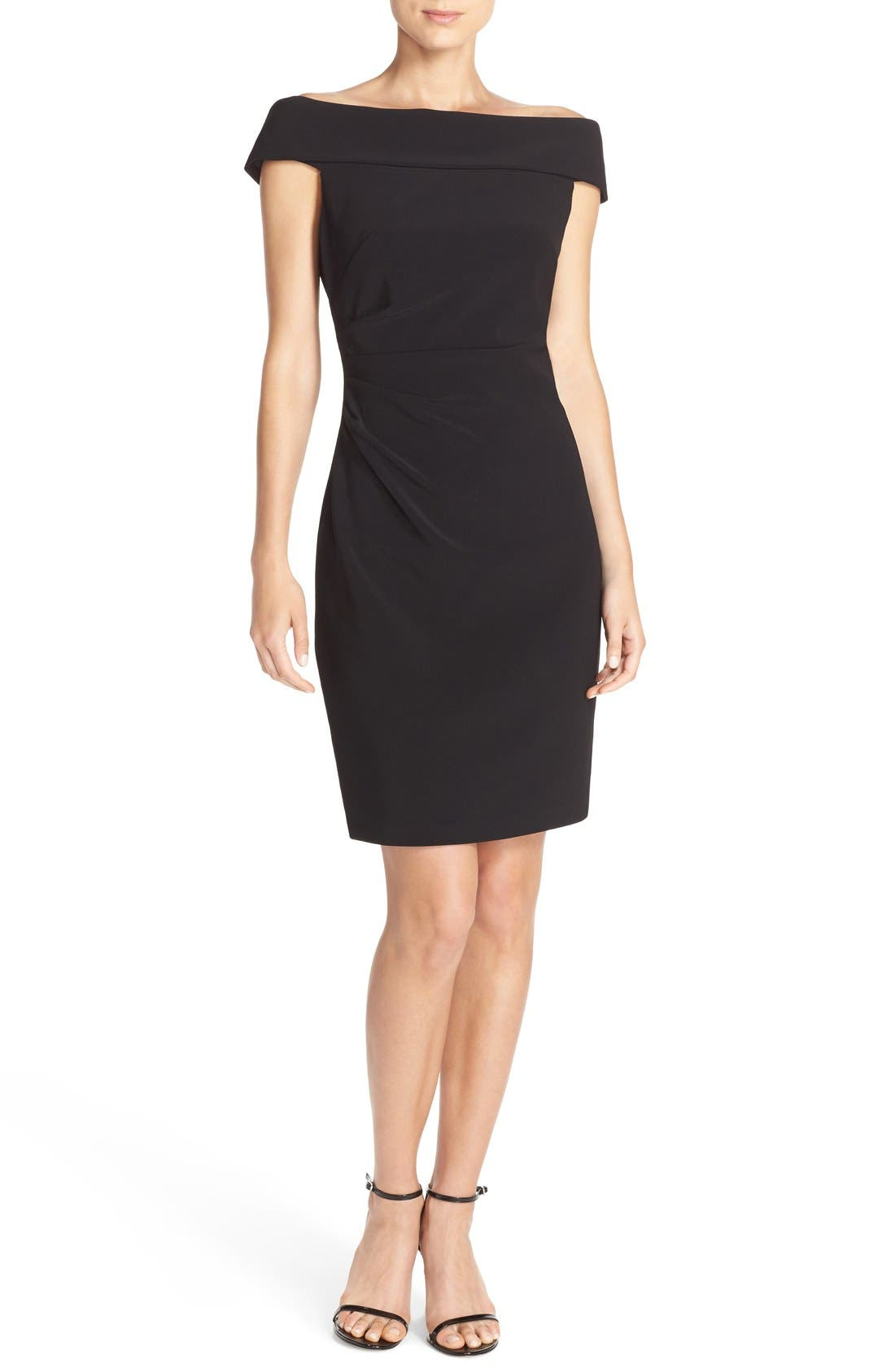 Alternate Image 4  - Vince Camuto Off the Shoulder Crepe Sheath Dress